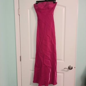 Magenta Sleeveless Gown by Cache